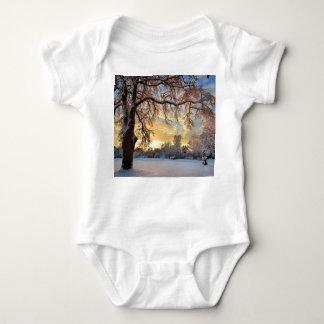 Winter Countryside In Latvia Baby Bodysuit