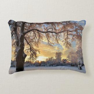 Winter Countryside In Latvia Decorative Cushion