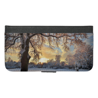 Winter Countryside In Latvia iPhone 6/6s Plus Wallet Case