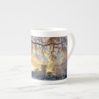 Winter Countryside In Latvia Tea Cup