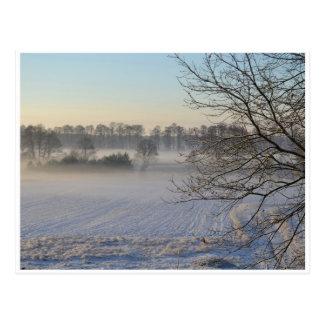 winter countryside postcard