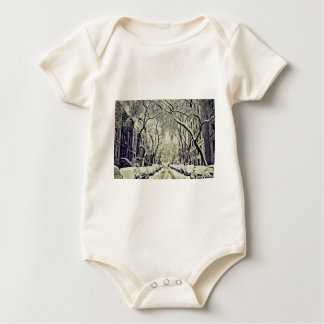 Winter Covered Streets Baby Bodysuit
