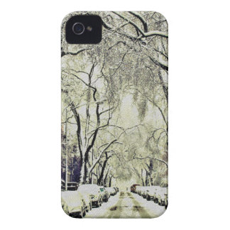 Winter Covered Streets iPhone 4 Cover