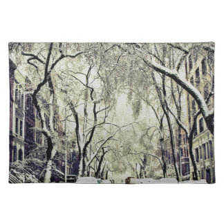 Winter Covered Streets Placemat