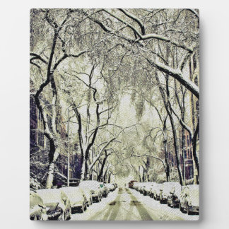 Winter Covered Streets Plaque