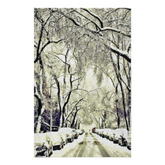 Winter Covered Streets Stationery