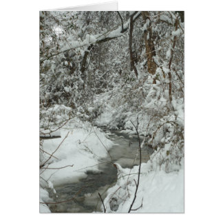 Winter creek card