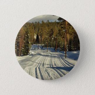 Winter day in Sweden 6 Cm Round Badge