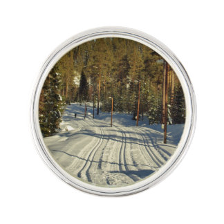 Winter day in Sweden Lapel Pin