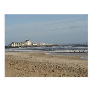 Winter day on Bournemouth beach Postcard
