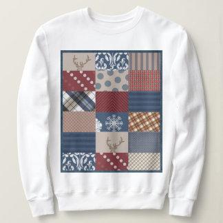 Winter Day Patchwork Sweatshirt
