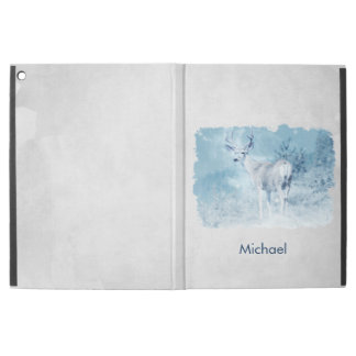 "Winter Deer and Pine Trees Personalized iPad Pro 12.9"" Case"