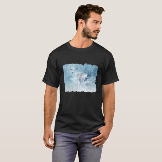 Winter Deer and Pine Trees T-Shirt