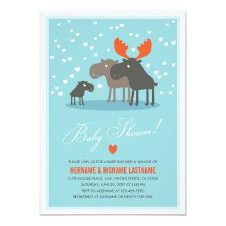 Winter Deer Family Couples Baby Shower Invitation
