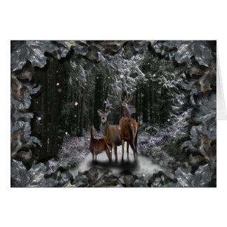 Winter Deer Greeting Card