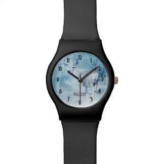 Winter Deer with Pine Trees Personalized Watch