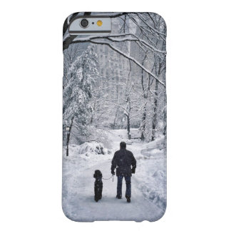 Winter Dog Walk Barely There iPhone 6 Case