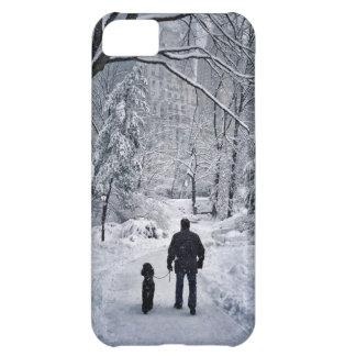 Winter Dog Walk iPhone 5C Case