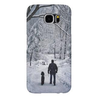 Winter Dog Walk Samsung Galaxy S6 Cases