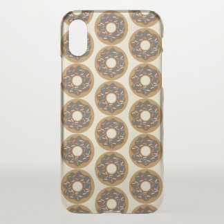 Winter Donuts with Blue Sprinkles Iced Chocolate iPhone X Case