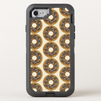 Winter Donuts with Blue Sprinkles Iced Chocolate OtterBox Defender iPhone 8/7 Case