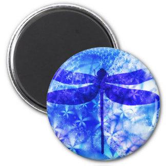 Winter Dragonfly 6 Cm Round Magnet