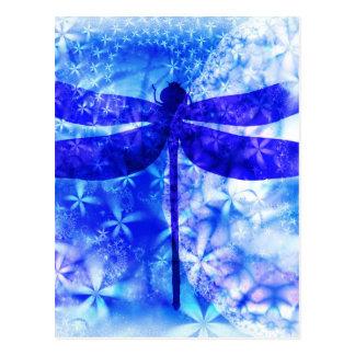 Winter Dragonfly Postcard