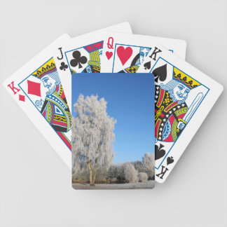 Winter Dream Bicycle Playing Cards