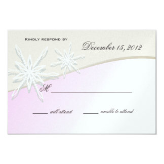 Winter Dreams Snowflake Response Card 9 Cm X 13 Cm Invitation Card
