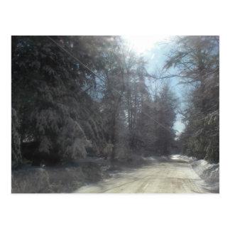 winter drive postcard