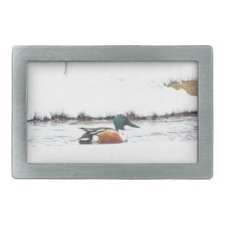 Winter Duck Rectangular Belt Buckles
