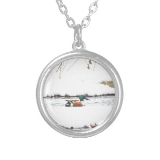 Winter Duck Silver Plated Necklace