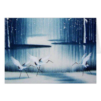 Winter Egrets Thank You Note Card
