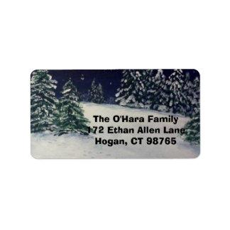 Winter Evening Address Label