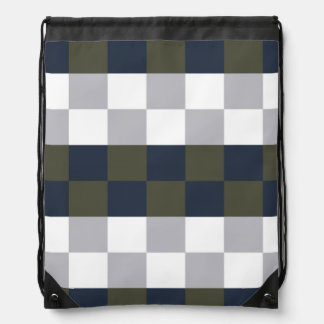 Winter & Evergreen Drawstring Bag