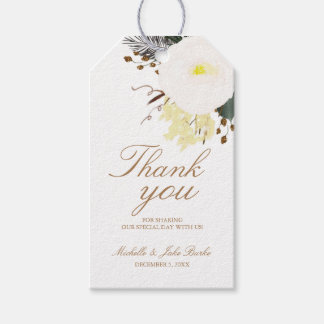 Winter Evergreen Thank You  Favor Tag