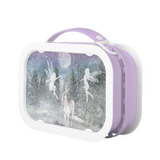 Winter fairy and unicorn friends Lunch Box