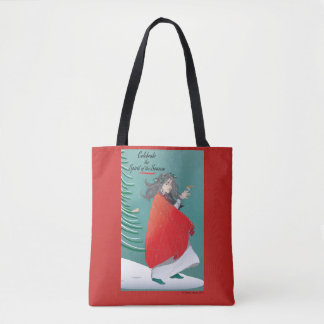 Winter Fairy holiday tote