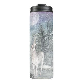 Winter fairy unicorn magic thermal tumbler