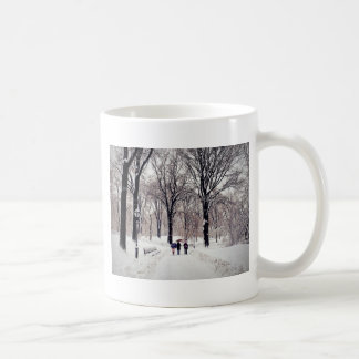 Winter Family Trip To Central Park Coffee Mug