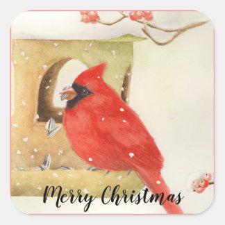 Winter Feeder Christmas Stickers