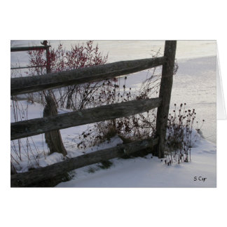 Winter Fence, S Cyr Card