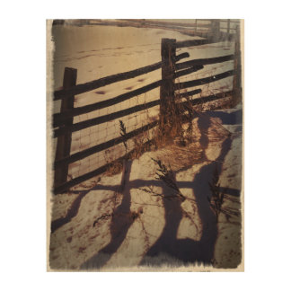 Winter Fenceline Wood Wall Decor