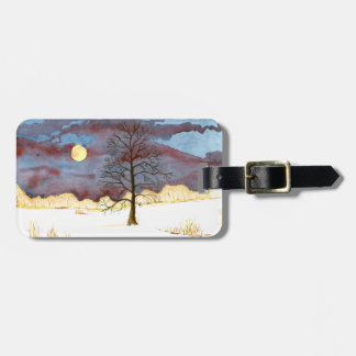 Winter Field Luggage Tag