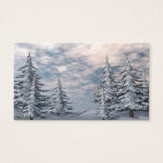 Winter fir trees landscape business card