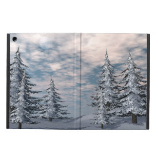 Winter fir trees landscape case for iPad air