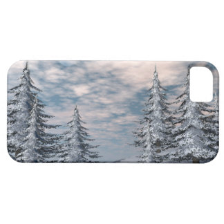 Winter fir trees landscape case for the iPhone 5