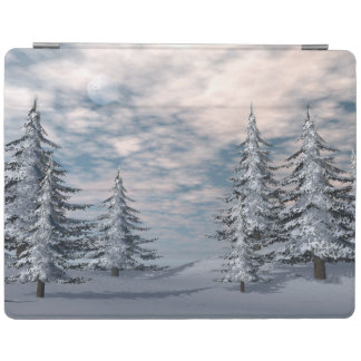 Winter fir trees landscape iPad cover