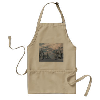 Winter fir trees landscape standard apron