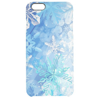 winter flakes clear iPhone 6 plus case